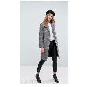 ASOS plaid coat
